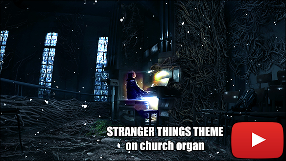 STRANGER THINGS THEME on church organ